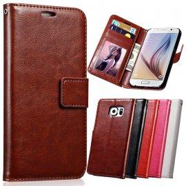 Pouzdro pro Samsung S5 S6 S7 EDGE S8 S8 PLUS S8+, peněženka, stojánek, PU kůže