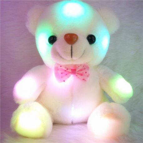 Plyšák medvídek 20cm LED