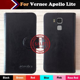 Pouzdro pro Vernee Apollo Lite, stojánek, PU kůže