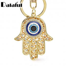 Přívěšek na klíče / Lucky Charm Amulet Hamsa Fatima Hand Evil Eye, klíčenka