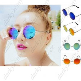 Sunglasses, metal frame, retro style, UV400