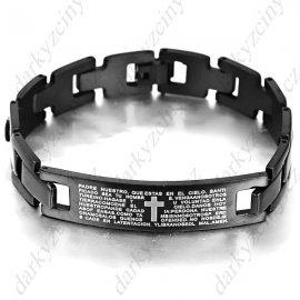 Bracelet cross, bible, stainless steel