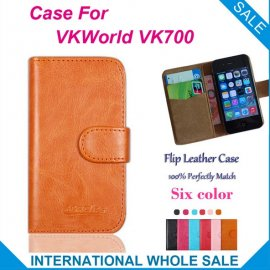 Case for VKWorld VK700, flip, stand, magnet, card compartment, PU leather