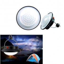 Lucerna / lampa kempingový, 60 LED, háčik na zavesenie, karabína