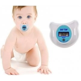 Pacifier with digital thermometer, LCD