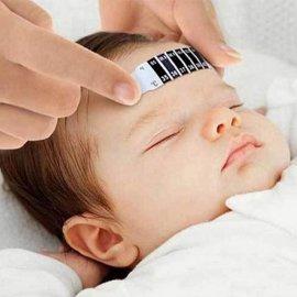Teploměr na čelo, pásek, opakovatelné použití, bez nutností baterií
