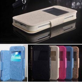 Case for DOOGEE F3 PRO, View Window, PU leather