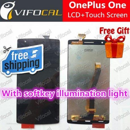 Náhradní sklo s dotykovou vrstvou + LCD obrazovka pro Oneplus One + nástroje