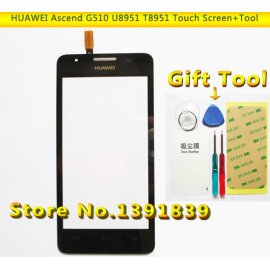 Touch Screen for Huawei Ascend G510 G520 G525 U8951 T8951 Lens Sensor, Digitizer + Frame + Tools