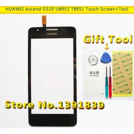 Náhradní sklo s dotykovou vrstvou + rámeček pro Huawei Ascend G510 G520 G525 U8951 T8951 + nástroje