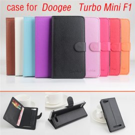 Case for DOOGEE TURBO Mini F1, flip, stand, PU leather