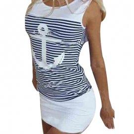 Sexy letné dámske šaty s kotvou / Poštovné ZADARMO!