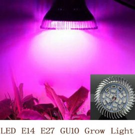 LED bodovka pro růst rostlin18W E14 /E27/GU10 LED SMD LED 85-265V