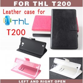 Case for THL T200, flip, stand, PU leather