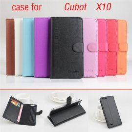 Case for CUBOT X10, flip, stand, PU leather