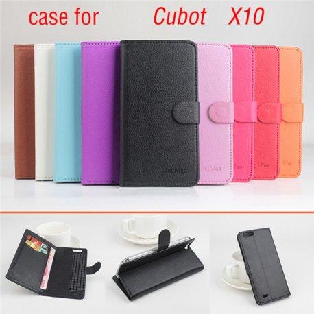 Pouzdro pro CUBOT X10, flip, stojánek, PU kůže