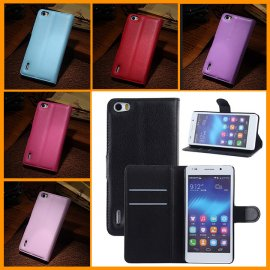 Case for Huawei Honor 6, flip, magnet, wallet, PU leather