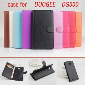 Case for DOOGEE DG550, flip, stand, PU leather, magnet
