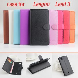 Case for LEAGOO LEAD3 LEAD3S, flip, stand, wallet, PU leather