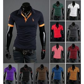 T-shirt short sleeve, MENPOLO SHIRT slim fit V neck