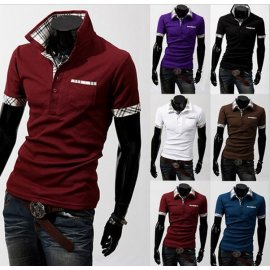 T-shirt with collar and short sleeve LL025