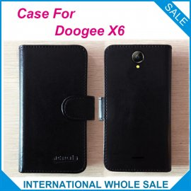 Case for Doogee X6, flip, magnet, wallet, PU leather