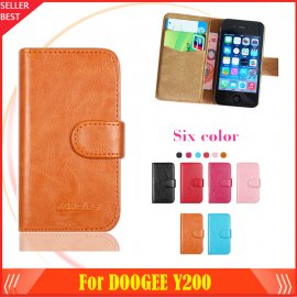 Puzdro pre DOOGEE Y200, flip, magnet, peňaženka, PU kože