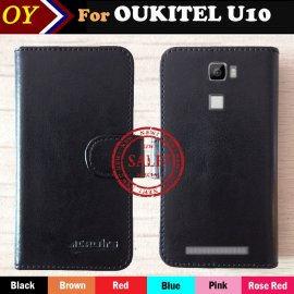 Case for OUKITEL U10, flip, magnet, wallet, PU leather