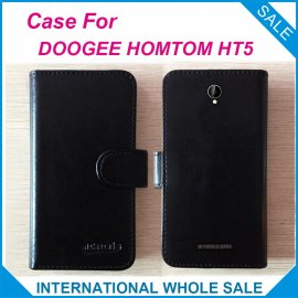 Case for HOMTOM HT5, flip, magnet, stand, wallet, PU leather