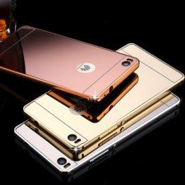 Pouzdro pro Huawei P7 P8 P8 lite P8mini P9 P9 lite Honor 4x 4A 4C 5X 6 6 PLUS G7 Mate7 8, ALU, zrcadlový efekt