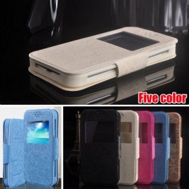 Case for Allview P6 Life, flip, view window, magnet, stand, PU leather