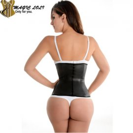 Korzet 2015 Hot Rubber Latex Waist Cincher Steel Boned Waist Training Corset