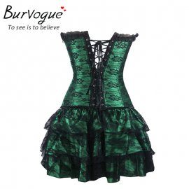 Korzet Burvogue Sexy Underbust Corset And Bustier Lace Evening Women Casual Dress Plus Size Push Up Gothic