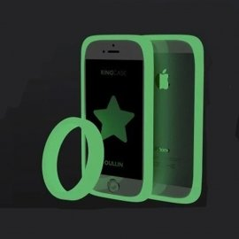"""Silikónový rámček pre Android, Apple, svietiace v tme, náramok, univerzálny 4 """"- 6"""""""