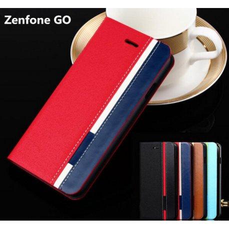 Pouzdro pro Asus Zenfone Go ZC500TG, flip, PU kůže