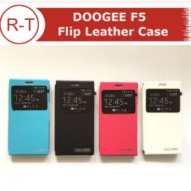 Case for Doogee F5, flip, view window, PU leather