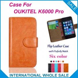 Case for Oukitel K6000 Pro, flip, wallet, stand, PU leather