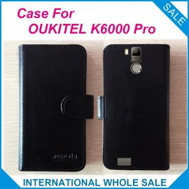 Pouzdro pro Oukitel K6000 Pro, flip, view window, PU kůže, original