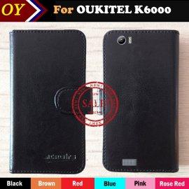 Case for Oukitel K6000, flip, wallet, PU leather