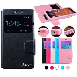 Case for Prestigio Muze C3, flip, view window, PU leather