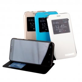 Case for CUBOT NOTE S, flip, view window, stand, PU leather