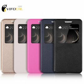 Case for Xiaomi Redmi 3, flip, view window, stand, PU leather