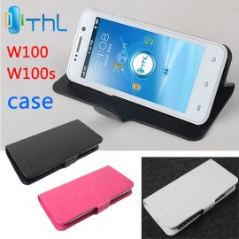 Case for THL W100 W100S flip, stand, PU leather