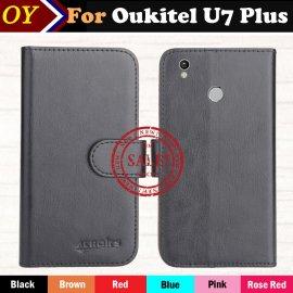 Case for Oukitel U7 PLUS, flip, magnet, wallet, PU leather