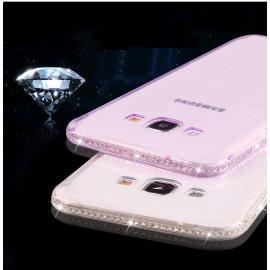 Puzdro pre Samsung Galaxy S6 S7 Edge 2017 A3 A5 A7 A8 J3 J5 J7 Note 4 5 S8 S8 PLUS S8 +, diamanty, TPU Gel