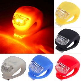 Flasher for bicycle, lighting 2-LED, 3-modes, waterproof, silicone