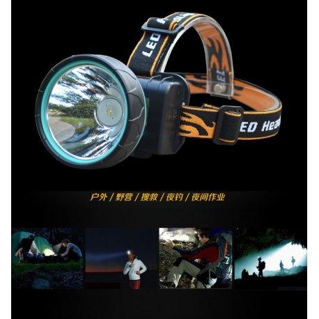 Čelovka / Svítilna Cree LED, 2 Mody, 3000lm, ZOOM, voděodolná + nabíječka