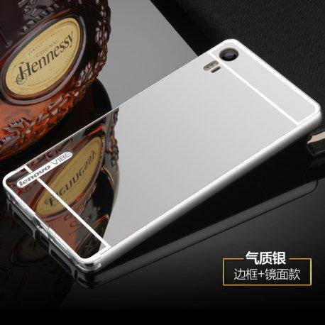 Pouzdro pro Lenovo Vibe Shot Z90, zrcadlový efekt, ALU + PC