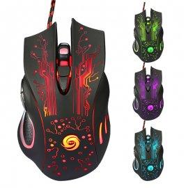 Podsvietená herná myš s max 3200dpi, LED, 6 hr., USB, PnP