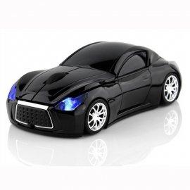 Bezdrátová myš auto, sporťák, 2.4GHz 1600DPI, LED /Poštovné ZDARMA!